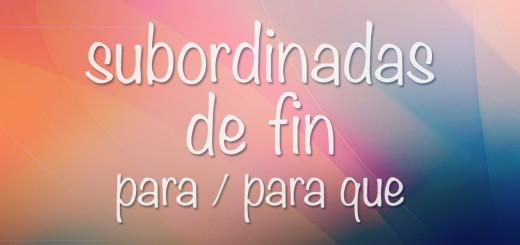 Придаточные цели в испанском языке